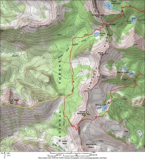 Golden Lakes Loop Map