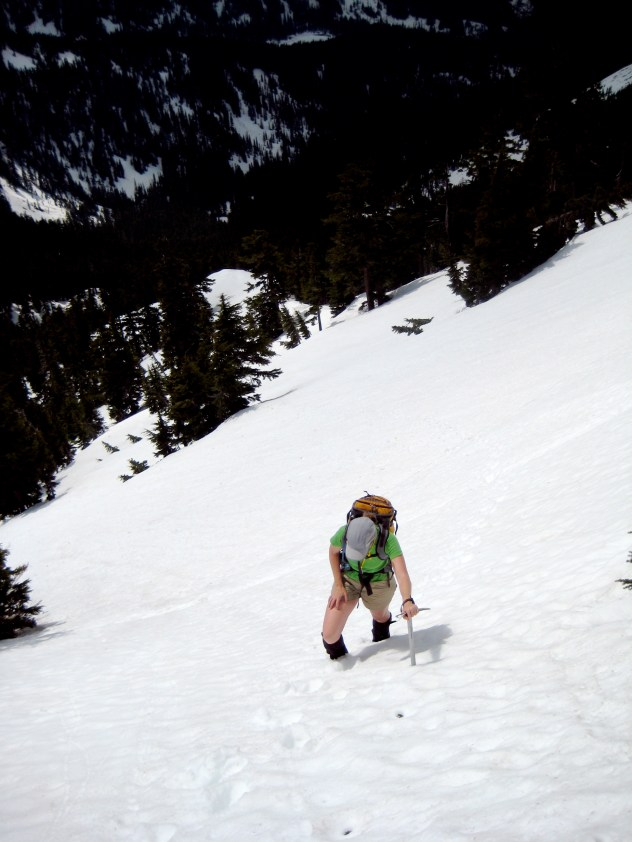 Eileen On Final Snow Slope