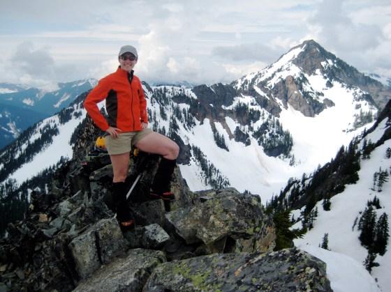 Eileen On The Summit Of Bryant Peak