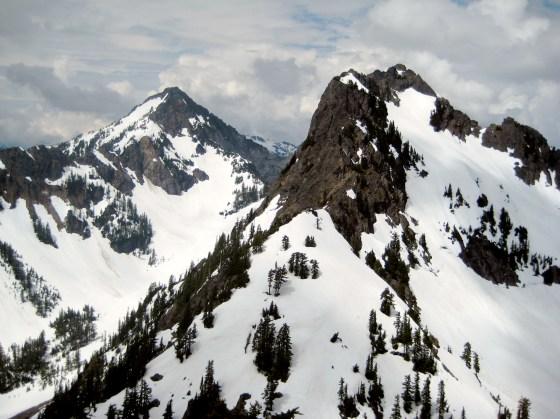 Kaleetan Peak and Chair Peak