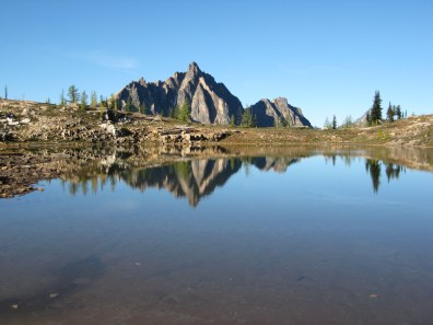 Upper Snowy Lake and Mt Hardy