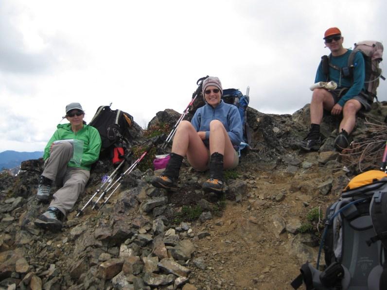 Lisa, Eileen, and Steve On SW Peak