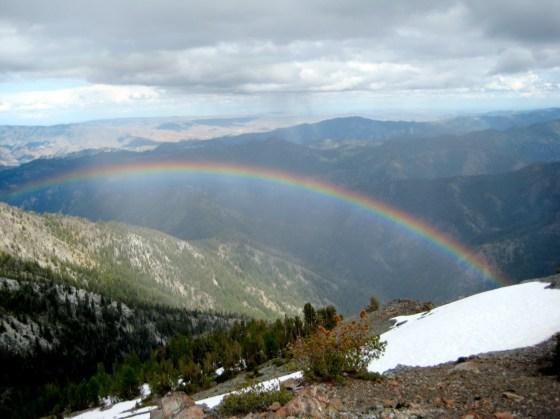 Rainbow Below NE Peak