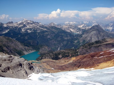 View north from Green Lake Glacier