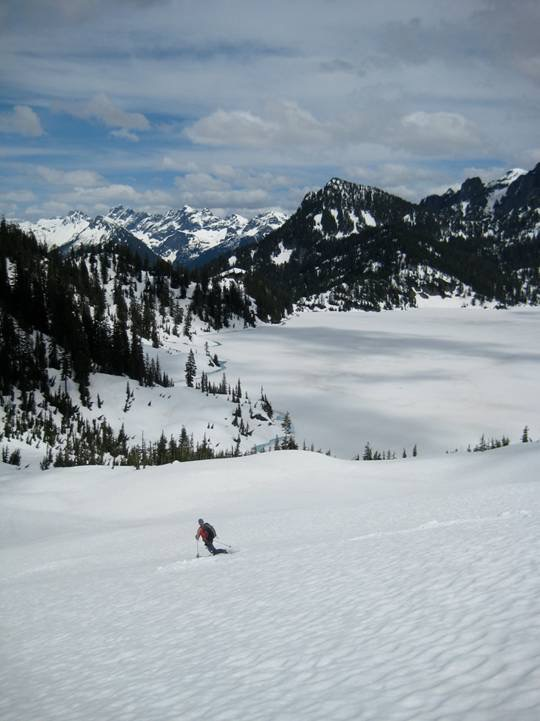 Skiing Down To Snow Lake