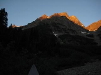 Alpenglow On Mt Ballard