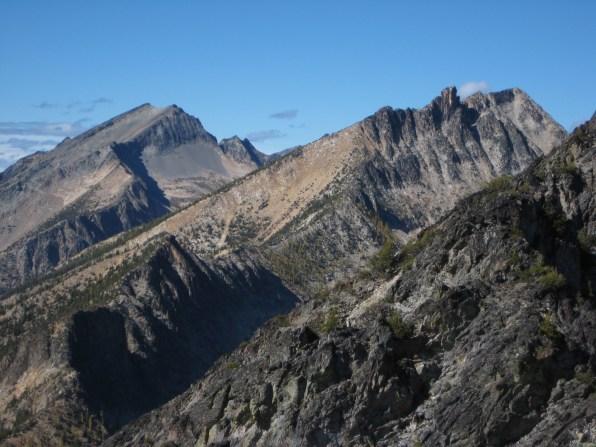 Monument Peak and Lake Mountain From Pistol Peak