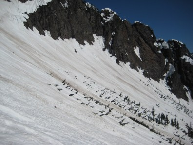 Crossing Middle Snow Slope