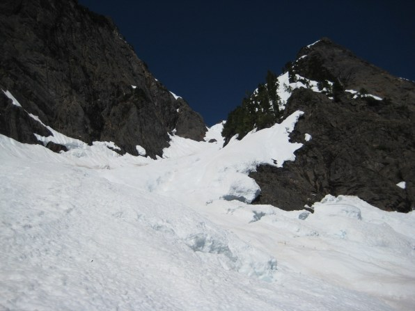 Looking Up NE Couloir