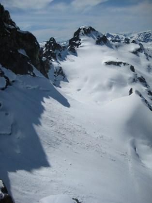 Cosho Peak and Kimtah Glacier From Kimtah Col