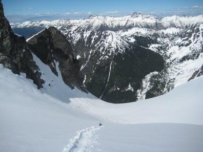 Glissading Upper Katsuk Glacier