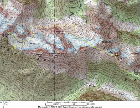 Katsuk Cirque Map