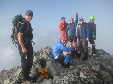 Summit Party On Whatcom Peak