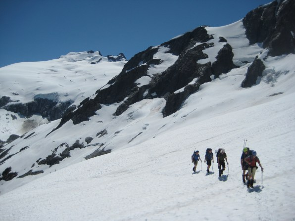 Mt Challenger From Whatcom Glacier Traverse