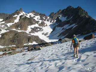 Heading Up Anderson Glacier