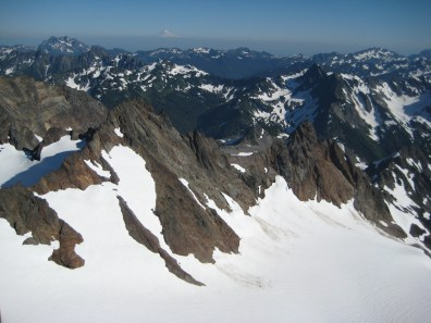 Echo Rock and Quinault Glacier From Summit