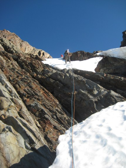 Rappelling From Ridge Notch