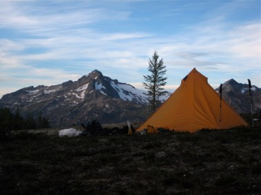 Fortress Mountain From Louis Creek Camp