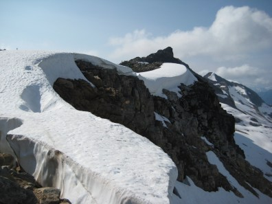 Cornices On Ridge Crest