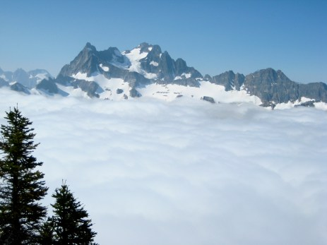 Mount Logan & Clouds From Red Mountain