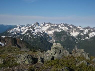 Mt Misch & Mt Buckindy From LeConte Pass