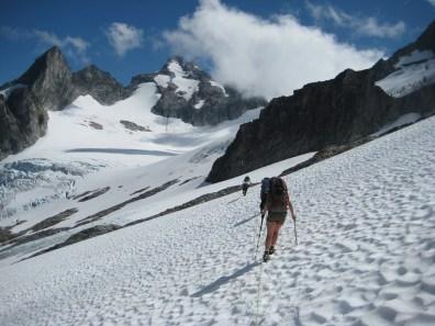 Traversing Toward The Dana Glacier