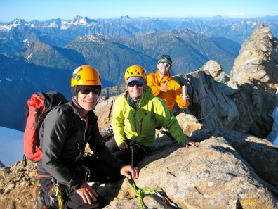 George, Eileen, and Kevin On Dome Peak Summit