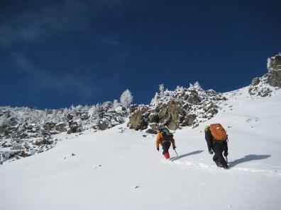 Kevin and Kirk Climbing Abernathy Peak