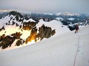 Last Sun On Kimtah Glacier