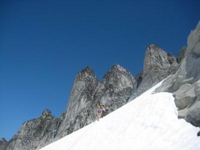 Climbing Toward Gunsight Peaks