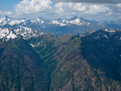 Mount Buckner and Mount Goode From Agnes Mountain