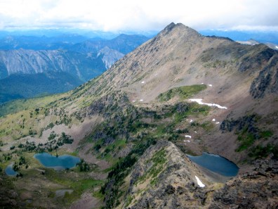 Big Chiwaukum Peak and Grace Lakes From Snowgrass Mountain