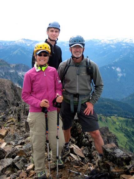 Derek, Eileen, and Jim On Snowgrass Mountain Summit