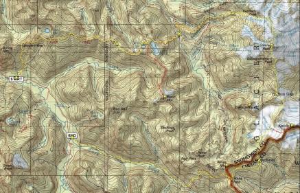 Lost Glacier Loop Map