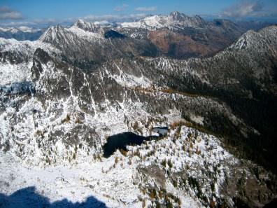 Horseshoe Lake From Jackaroo Peak Summit