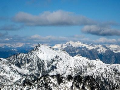 Hijack Peak and Snowgrass Mountain From Jackaroo Peak