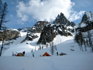 Wine Spires and Aries Above Camp