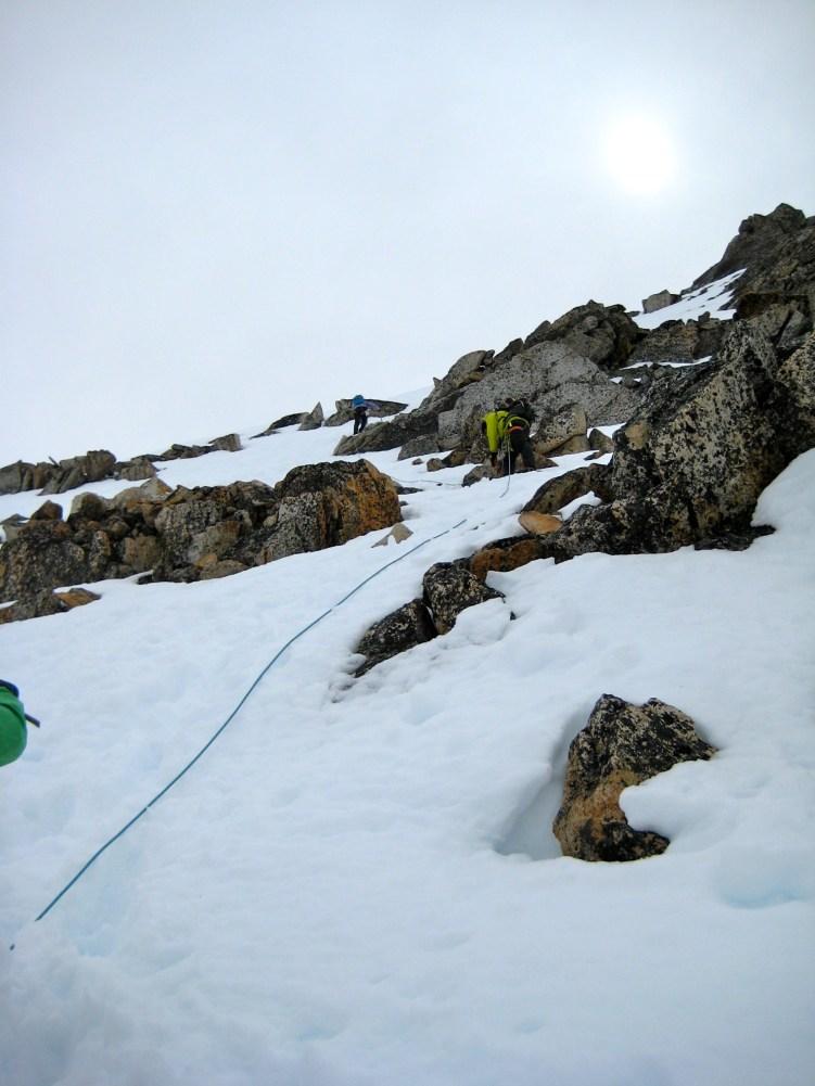 Climbing Summit Snowfield