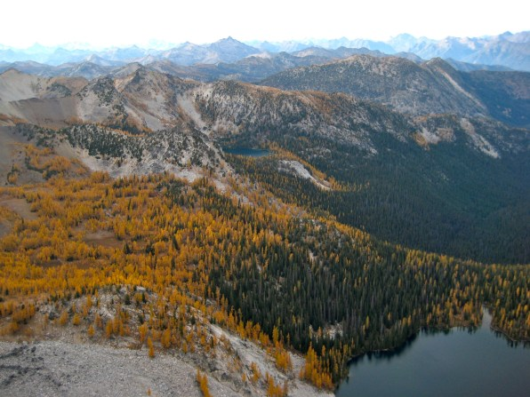 Oval Lakes From Courtney Peak