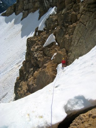 Eileen Belaying From Sandy Ledges