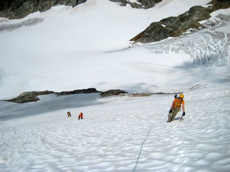 Climbing Glacier Below Crooked Thumb