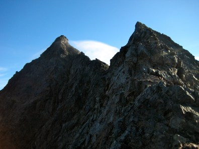 True Summit and False Summit From Middle South Ridge