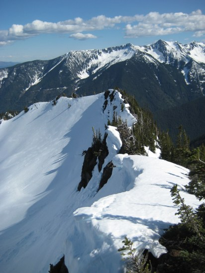 Cornices On Rock Cresent Divide
