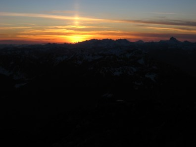 Sunset From Mt Howard Summit