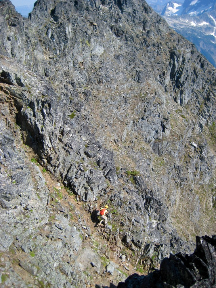 Eileen Traversing Back To False Summit