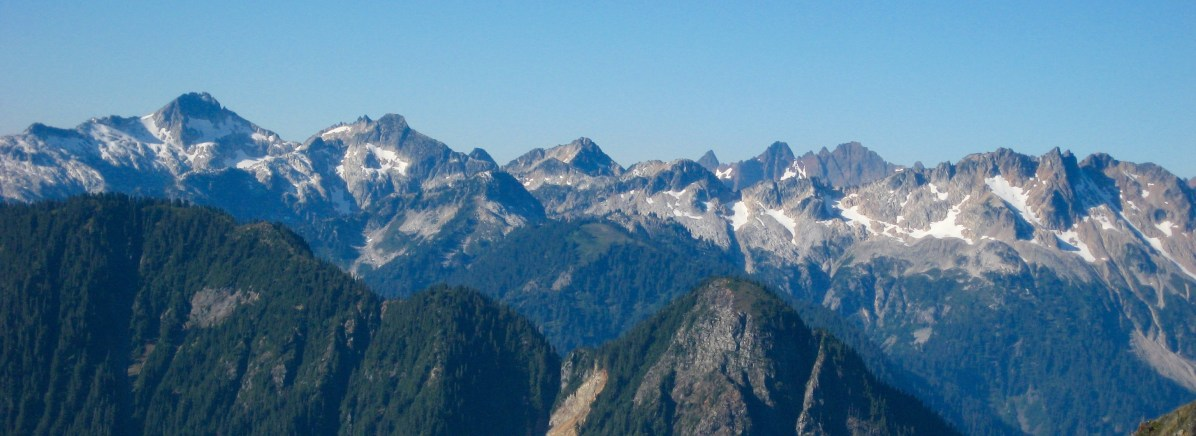 Mount Bruseth and Mount Misch From Summit