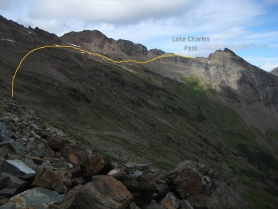 Descent Route From Lake Charles Pass