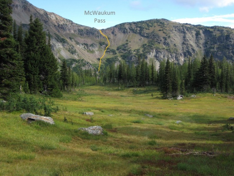 Descent Route From McWaukum Pass