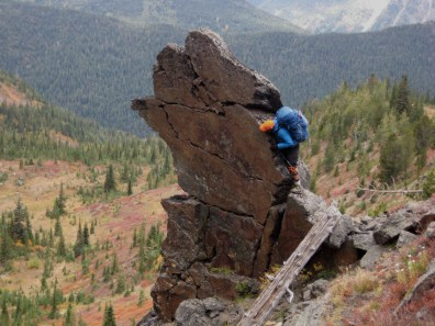 Kevin On Schist Pinnacle