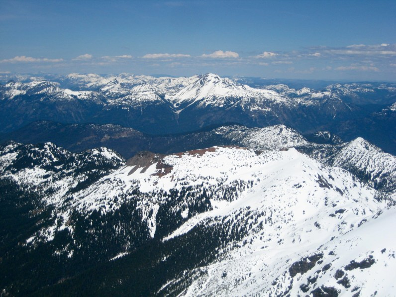 Mount Outram From Silvertip Mountain Summit